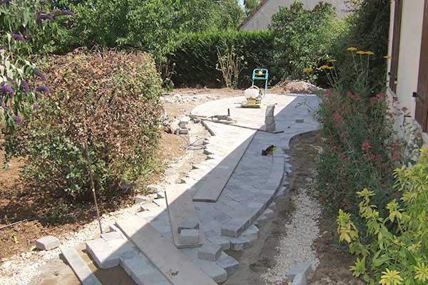 chantier allee de jardin 1