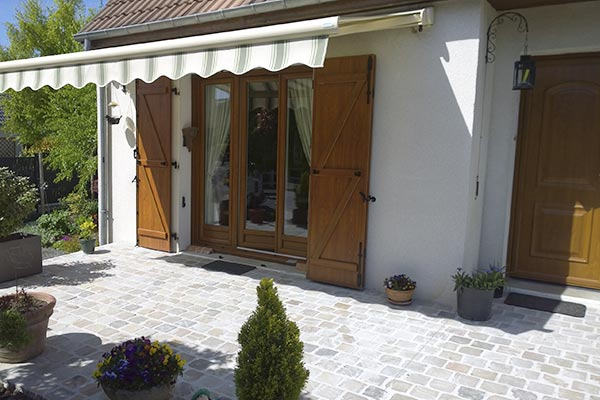 terrasse paves gres neuf